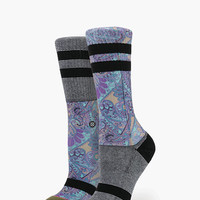 Stance Aquarius Everyday Tomboy Athletic Womens Socks Black One Size For Women 25898110001