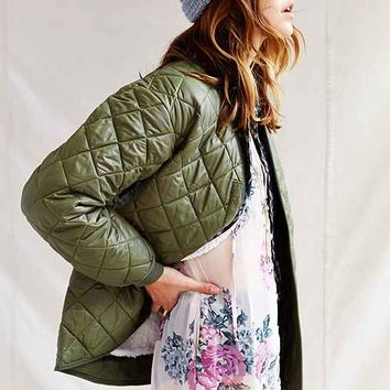 Urban Renewal Belgian Quilted Liner Jacket - Green