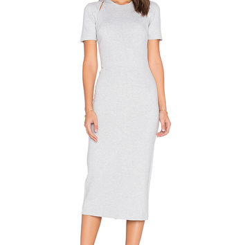 Elizabeth and James Melange Bayli Dress in Light Heather Grey