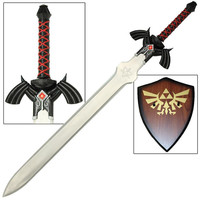 DARK LINK SHADOW LEGEND OF ZELDA MASTER SWORD WITH PLAQUE