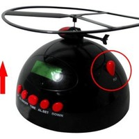 Most Annoying Helicopter Flying Digital Alarm Clock with calendar