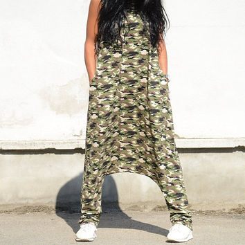 ON SALE Military Jumpsuit / Loose Jumpsuit / Maxi Military jumpsuit / Oversize jumpsuit / military plus size jumpsuit / woman loose jumpsuit