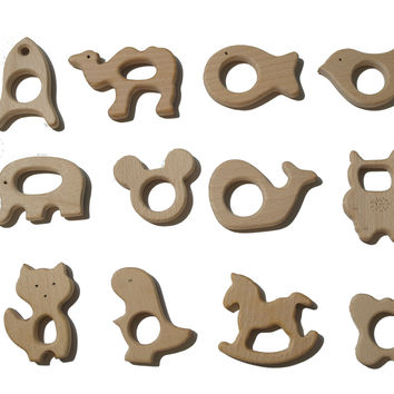Wood Teether Shapes