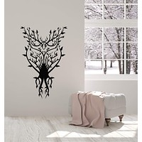 Vinyl Wall Decal Owl Bird Branches Nature Abstract Room Decoration Stickers Mural (ig5552)
