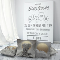 Thursday, August 27: $5 off Throw Pillows - 24 Hours Only @ Society6 by soaring anchor designs | Society6