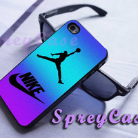 colorful rainbow nike jordan case iphone 4/4s case, iphone 5 case, iphone 5s case, iphone 5c case, samsung galaxy s3/s4/s5 case