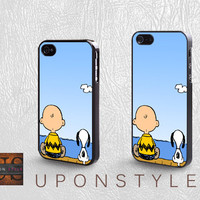 Phone Cases, iPhone 5 Case, iPhone 5s Case, iPhone 4 Case, iPhone 4s case, Snoopy and Charlie, iPhone Case, Case for iphone, Case No-737