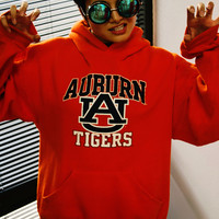 Vintage Hooded College Sweatshirt- Auburn Tigers