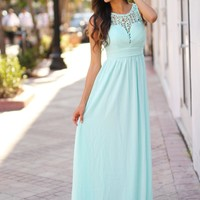 Mint Crochet Maxi Dress
