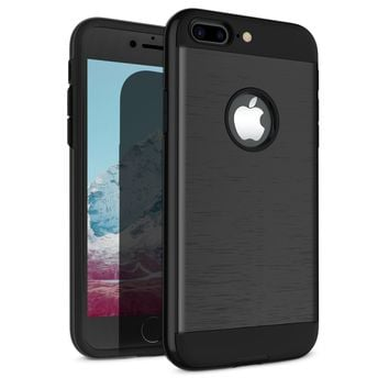 iPhone 7 Plus Case, iPhone 8 Plus Case, Vafru Shockproof of Slim Anti-Scratch Protective Cover of Heavy Duty Dual Layer Rugged Case for Apple iPhone 7 Plus / Apple iPhone 8 Plus (Black)