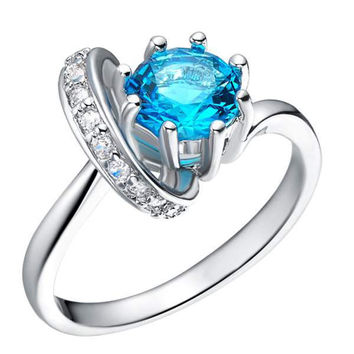 Silver Gemstone Accessories Ring = 5839657665