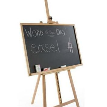 "24""_x_36""_Chalkboard_with_Floor_Easel_-_Natural_Wood_19528"
