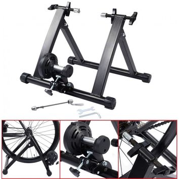 Bike Trainer Stand Portable Magnetic Resistance Indoor Bicycle Cycling Exercise
