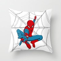 The Amazing Spiderman! Throw Pillow by Steve Wade