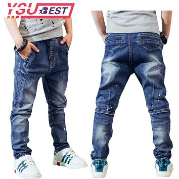 2018 Brand Jeans Boys Jeans Kids Trousers Fashion Children Boys Jeans Kids Fashion Denim Pants Baby Casual Pants Infant 2-14Yrs
