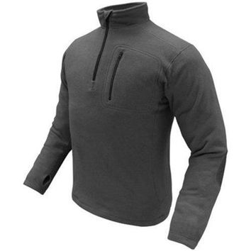 1-4 Zip Pullover Color- Black (Small)