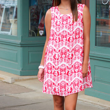 Do It Like This Dress {Red/White}