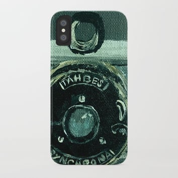 Tahbes Vintage Camera iPhone Case by jamespeart