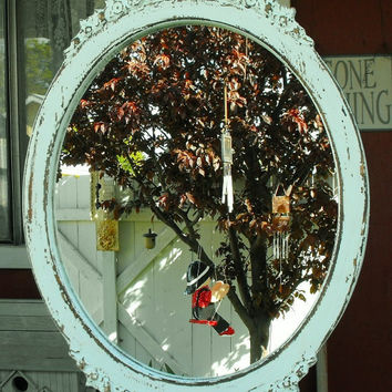 Victorian Oval Wood Mirror Frame