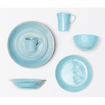 Blue Pheasant Ariana Tableware (Pack of 4) - Aqua | New Decor | What's New! | Candelabra, Inc.