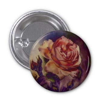 Vintage Rose - Vivid Floral Button