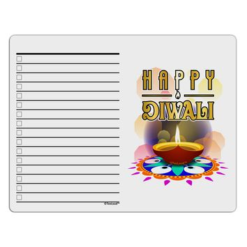 Happy Diwali - Rangoli and Diya To Do Shopping List Dry Erase Board by TooLoud