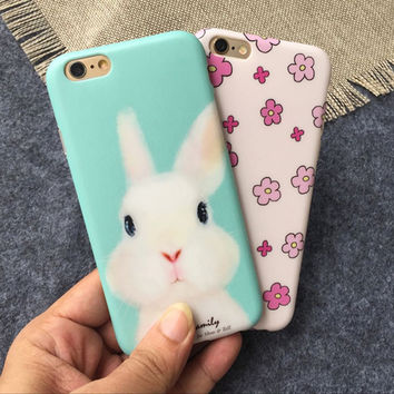 Cute Cartoon Flexible TPU Phone Case for Iphone 6 6s 6 plus 6s plus Coque for Women Girls Anti Scratch Dust