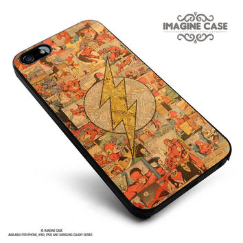 retro The Flash Superhero comic case cover for iphone, ipod, ipad and galaxy series