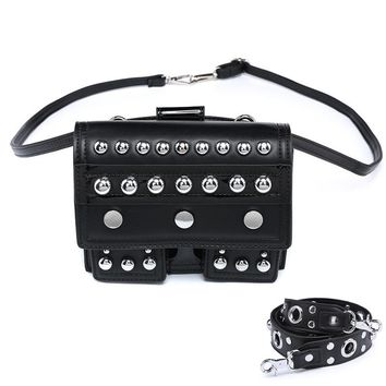 PU Leather Steampunk Gothic Rivet  Shoulder Bag
