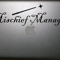 Harry Potter Inspired Mischief Managed Macbook by NothinbutVinyl