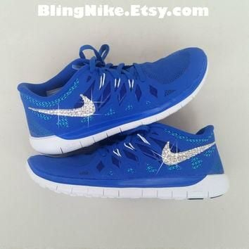 Bling Nike Free 5.0 With Swarovski Crysral Rhinestones - Blibg Nikes, Bling Shoes, Bli