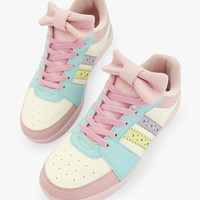 Pastel Color Bowknot Casual Sneakers