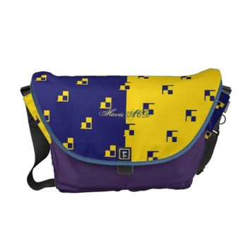 RICKSHAW MESSENGER BAG GOLD DARK BLUE HAVIC ACD