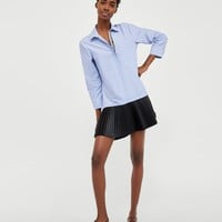 CONTRASTING SHIRT DRESS - MONDAY TO FRIDAY-WOMAN | ZARA United States