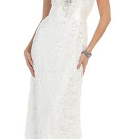 Fully Lace Plus Size Wedding Dress