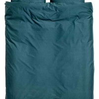 Cotton duvet cover set - Dark petrol - Home All | H&M GB