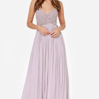 Something Special Crochet Maxi Dress - Lilac FINAL SALE!