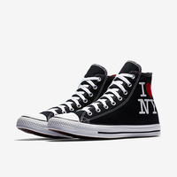 The Converse Chuck Taylor All Star I Love NY High Top Unisex Shoe.
