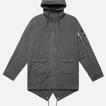 Military Raincoat / Black