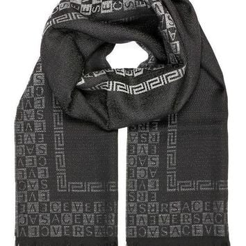 Versace Collection Black Ombre Scarf