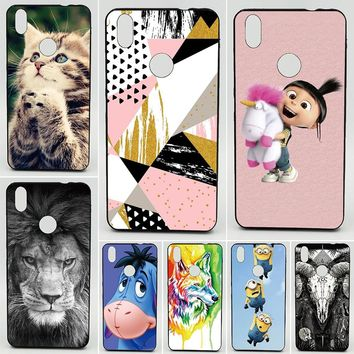 For BQ Aquaris U Plus Patterned Minion My Unicorn Agnes Wolf Animal Cases Soft Tpu Silicone Back Cover Protective Phone Cases