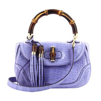 Gucci New Bamboo alligator Parme Limited Edition