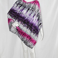 Tie Dye Poncho/ Nursing Cover/ Lightweight Shawl/ Off the Shoulder, One Shoulder Boho Top/ Maternity Top/ Gift for her/ OOAK