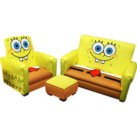 Nickelodeon - SpongeBob SquarePants Deluxe Toddler Sofa, Chair and Ottoman