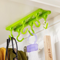 4 Color 6 hook Kitchen Rack Seasoning Hook Rack kitchen tool Gadgets Cabinets Ceiling Hanging Hook Rod Kitchen Accessories