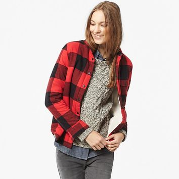 WOMEN FAUX SHEARLING FLANNEL LONG SLEEVE LONG SHIRT | UNIQLO