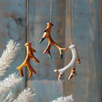 Copper Antler Ornament