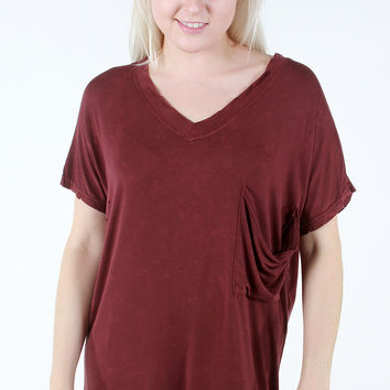 Lucky Find Tunic - Burgundy