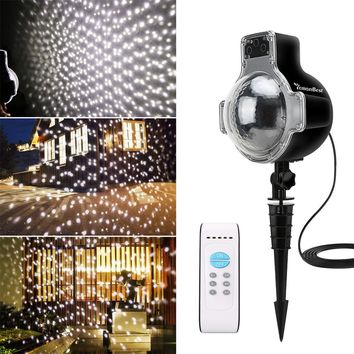 Waterproof IP65 Christmas Laser Led Projector Snowfall Christmas Lights Outdoor Tree Decorations Landscape Garden Snow Lamp