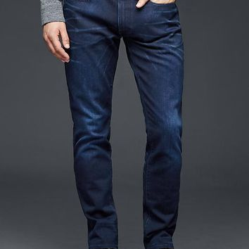 Gap Men 1969 Skinny Fit Jeans Soft Scrape Blue Black Wash